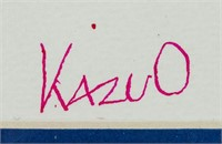 Japanese Pop Art Ink on Paper Signed Kazuo