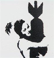 British Pop Silkscreen Lithograph Signed Banksy