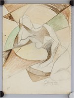 French Fauvist Mixed Media George Braque