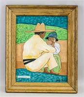 Mexican Impressionist Gouache Signed Diego Rivera