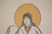 Feng Zikai 1898-1975 Chinese Watercolor Scroll