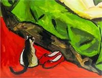 German Expressionist Gouache Signed Max Pechstein