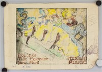 French Etching on Paper Signed H-Lautrec