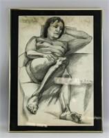 Polish Impressionist Graphite Eugene Zak