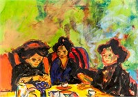 German Expressionist Mixed Media Signed E Kirchner