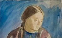 Russian Watercolor Meier Akselrod 1936