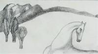 Italian Modernist Pencil on Paper Signed SIRONI