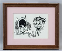 Mixed Media on Paper Signed Bob Kane
