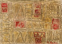 US Abstract Expressionist OOC Signed Lee Krasner