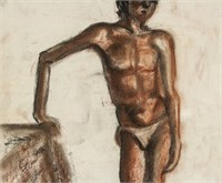 French Pastel on Paper Signed Michel Kikoine