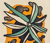 French Cubist Linocut on Paper Fernand  Leger