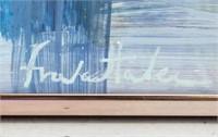 American Abstract Oil Signed Frankenthaler