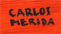 Guatemalan Gouache on Canvas Signed CARLOS MERIDA