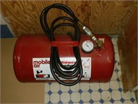 Red Mobile Air Tank