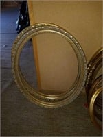 Lot of Gold Gilded Style Oval Frames