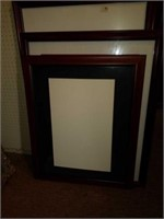 Lot of 3 Red Wood Picture Frames