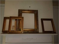 Lot of 4 gold gilded picture frames