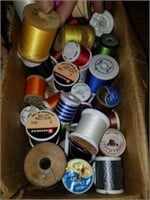 Lot of Sewing Thread, Aprons, Vacuum Cup, Etc