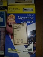 Corner mounts, blades, hinging tape,