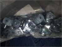 Box full of Metal Picture Hanger Mounts & Screws