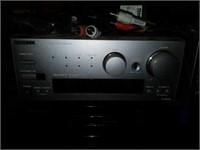 Onkyo Amplifier, Disc Changer, & Stereo Cassette