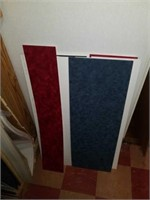 Lot of framing boards assorted colors and sizes