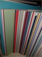 Lot of matte boards assorted sizes and colors