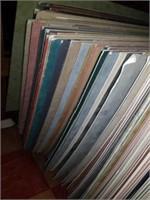 Large lot of velvet framing boards