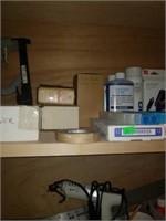 Estate lot of items on shelf