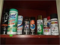 Entire Contents of Shelf of Spray Paints
