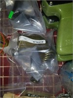 Lot of Tape Dispensers, Lighter Fluid, Wire, Etc