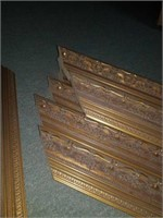 8 gold guilded style picture frame pieces