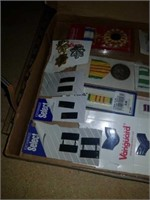 Box with military badges and medals plus ribons