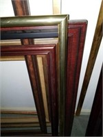 Lot of 9 Large Frames of Various Sizes