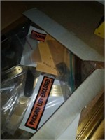 Small box of brass plates