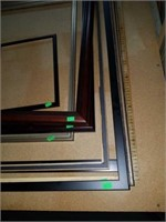Lot of 9 Misc Picture Frames - Various Sizes