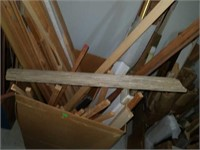 Large box of wooden framing supplies