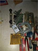 Estate lot misc tools, clamps, bits, etc
