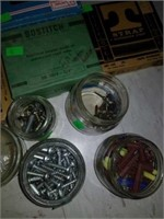 Estate lot of nails, screws, staples, and more.