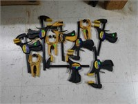 Lot of 10 Quick Grip Hand Clamps & Bar Clamps