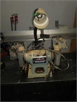 "Delta 6"" Bench Grinder with Flexible Lamp"