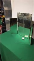 Vintage Tri-Fold Mirror