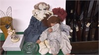 Glasses, Rag Dolls, Pictures, Candle Holders, Etc.