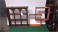 2- Wooden Knick Knack Shelves