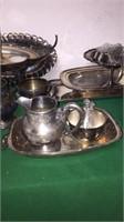 Assorted Silver & Quadruple Plate Pieces
