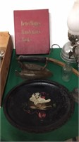 Stadelmans Wood Crate, Cookbook, Scissors,