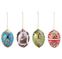 Joan Rivers 4pc Russian Inspired Egg Ornaments