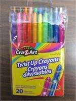 Lot of 120 Cra-Z-Art Twist Up Crayons $48