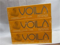 Lot of 3 Voila Intercosmo Intense Hair Colour