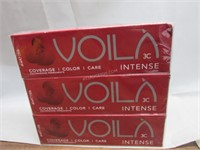 Lot of 3 Voila Intercosmo Intense Hair Colour
